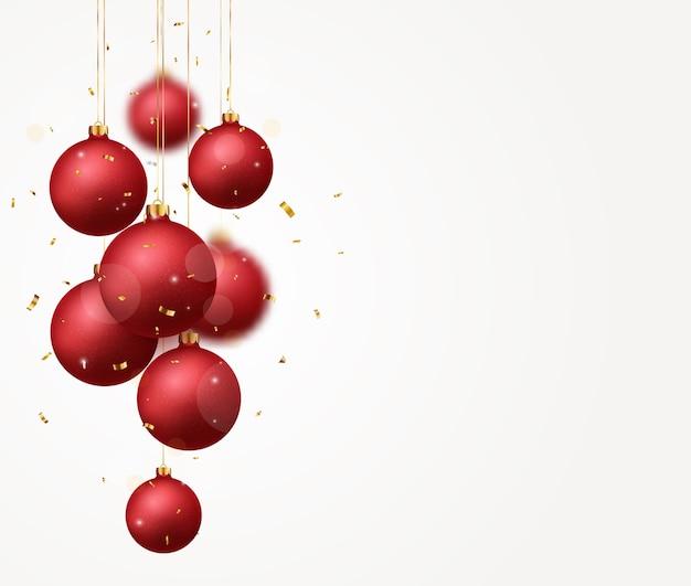 Desenho de bolas vermelhas de natal isolado