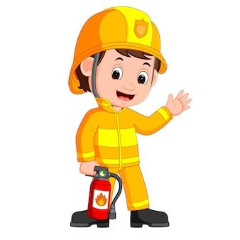 Desenho de bombeiro
