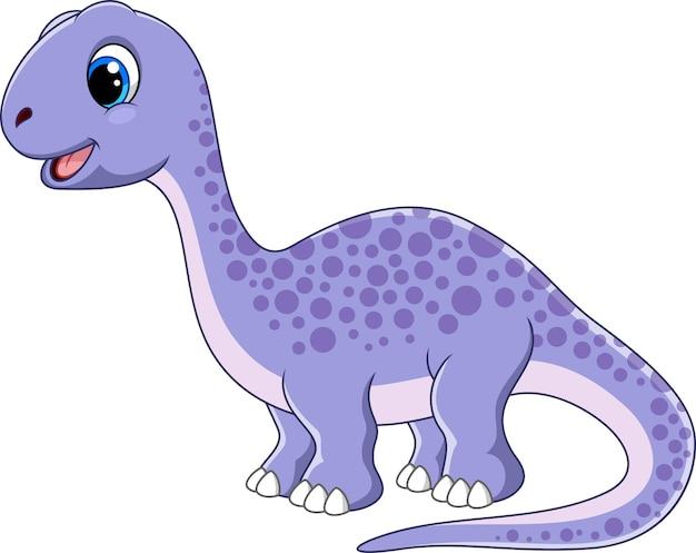 Desenho de brontossauro fofo