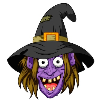 Desenho de cabeça de bruxa