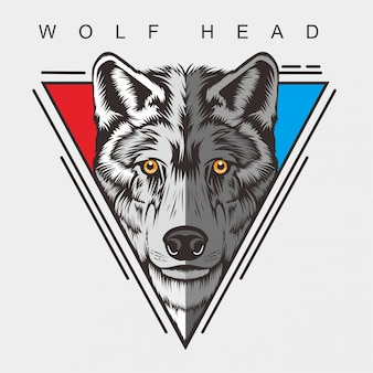 Desenho de cabeça de lobo