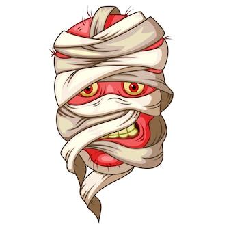 Desenho de cabeça de múmia