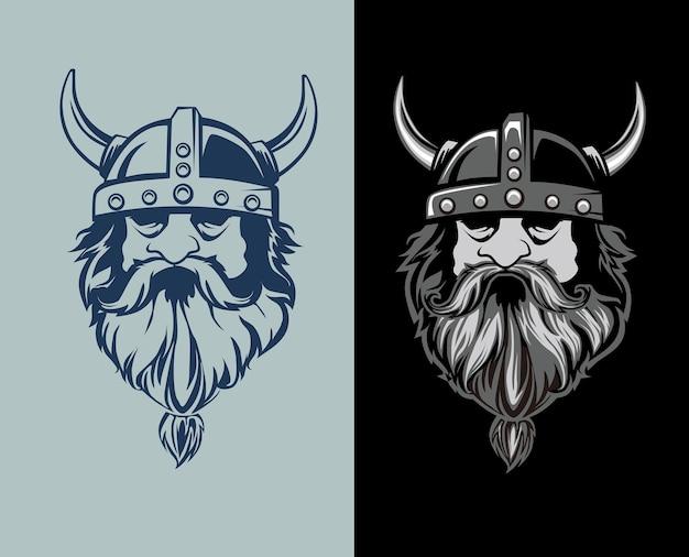 Desenho de cabeça de viking