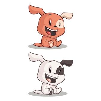 Desenho de cachorro feliz