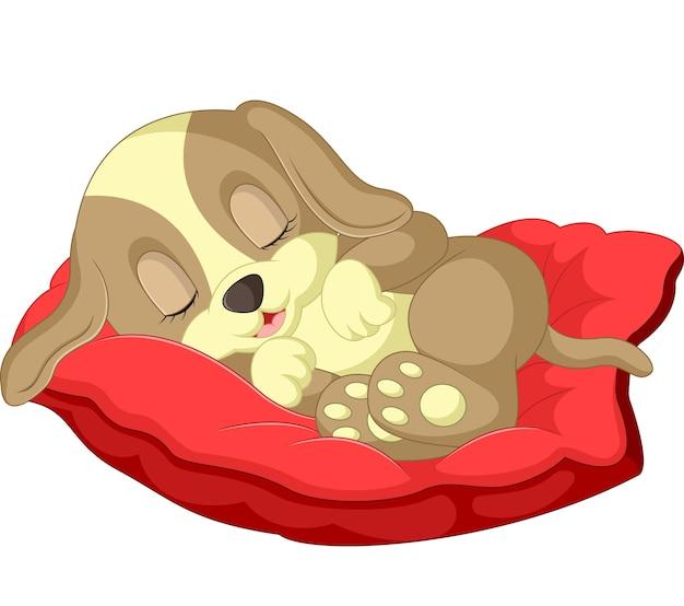 Desenho de cachorro fofo dormindo