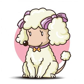 Desenho de cachorro poodle fofo.