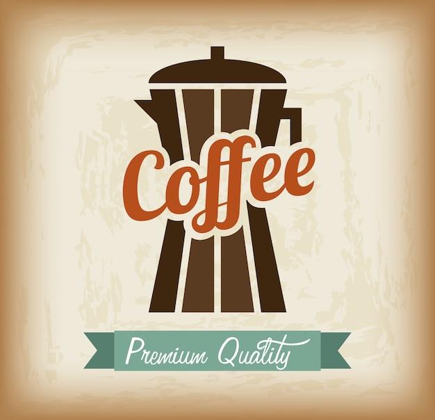 Desenho de café sobre ilustração em vetor fundo padrão