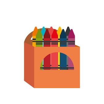Desenho de caixa de lápis de desenho animado