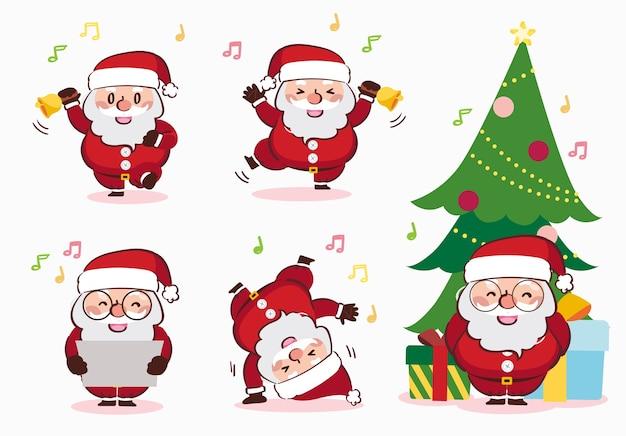 Desenho de caixa de presente de papai noel feliz natal
