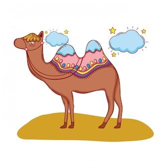 Desenho de camelo no deserto