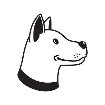 Desenho de cão cão vector