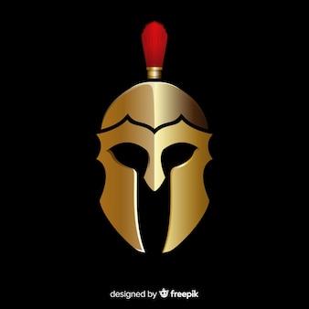 Desenho de capacete espartano