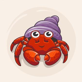 Desenho de caranguejo eremita