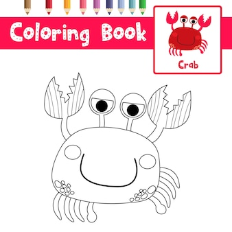 Desenho de caranguejo vermelho para colorir