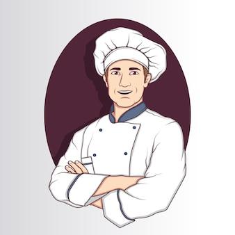 Desenho de caráter do chef