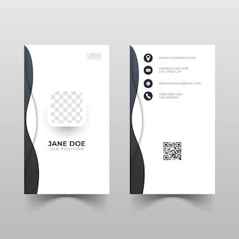 Desenho de cartão de identificação vertical com formas de onda