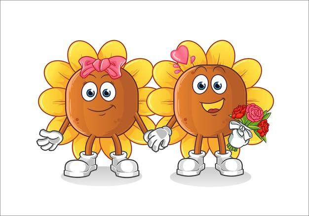 Desenho de casamento flor do sol