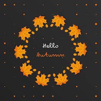 Desenho de celebração de outono