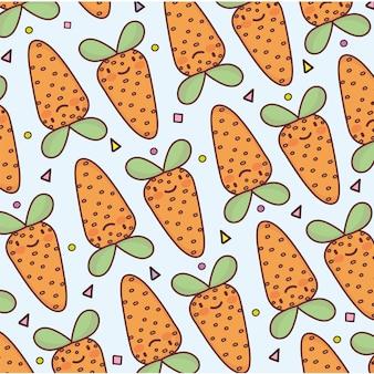 Desenho de cenoura vegetal bonito padrão