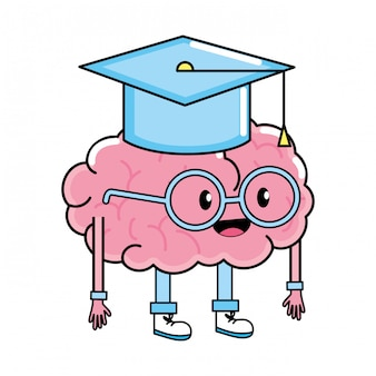 Desenho de cérebro bonito