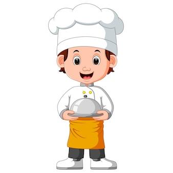 Desenho de chef de menino