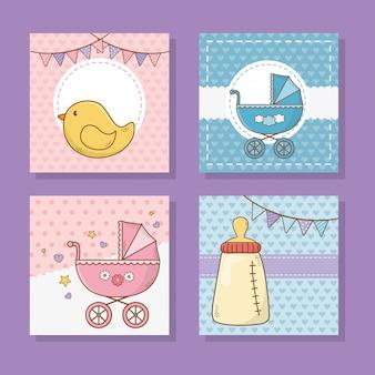 Desenho de chuveiro de bebê fofo