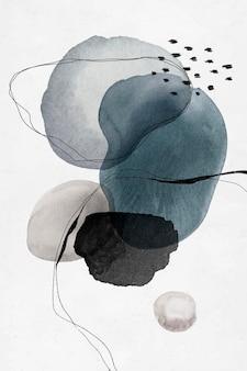Desenho de círculos coloridos em aquarela abstrata