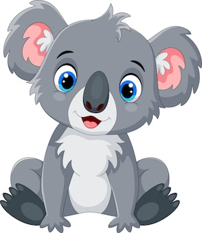 Desenho de coala fofo