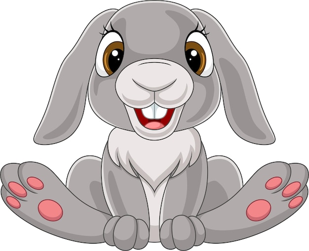 Desenho de coelhinho fofo sentado