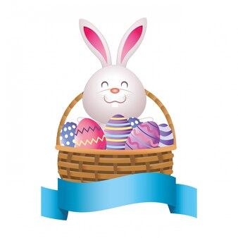 Desenho de coelho de páscoa
