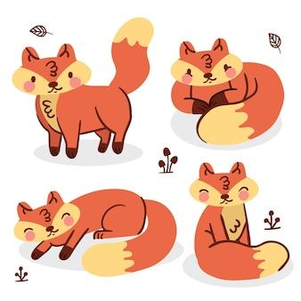 Desenho de coleção fox