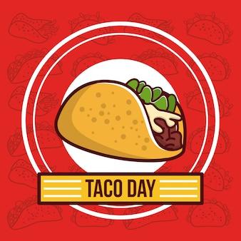 Desenho de comida mexicana de dia de taco