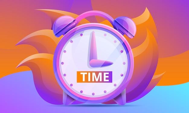 Desenho de conceito de tempo com relógio