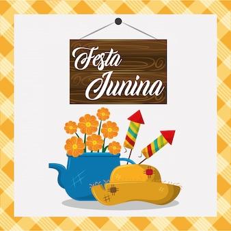 Desenho de conceito festa junina