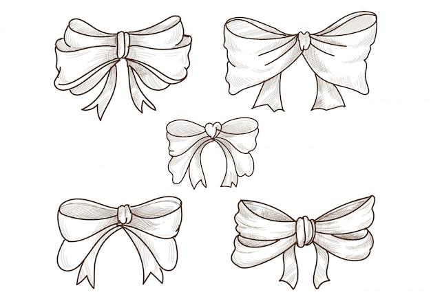 Desenho de conjunto de arcos de esboço desenhado à mão