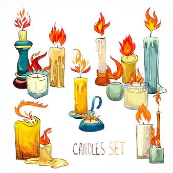 Desenho de conjunto de vela