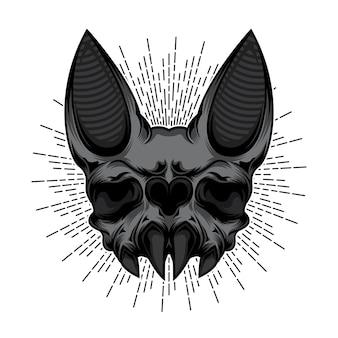 Desenho de crânio de morcego