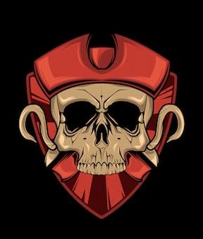 Desenho de crânio de pirata.