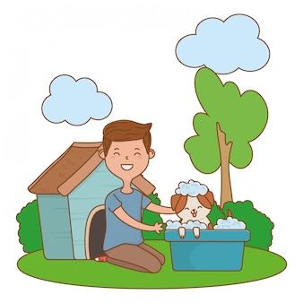 Desenho de criança feliz de infância