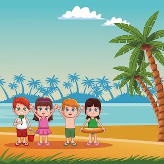 Desenho de crianças de verão