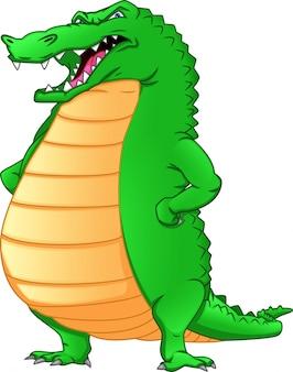 Desenho de crocodilo bonito