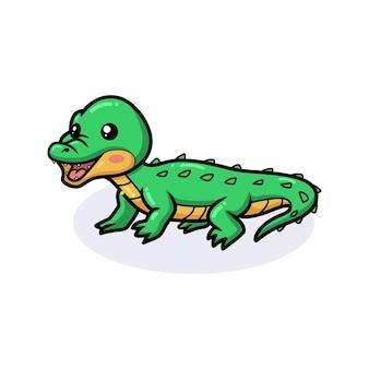Desenho de crocodilo fofo posando