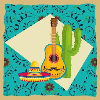 Desenho de cultura mexicana