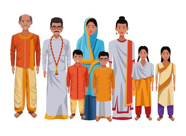 Desenho de cultura oriental asiática indiana