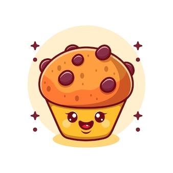 Desenho de cupcake fofo