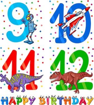 Desenho de desenho animado de aniversário para menino