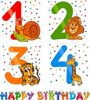 Desenho de desenho animado de aniversário