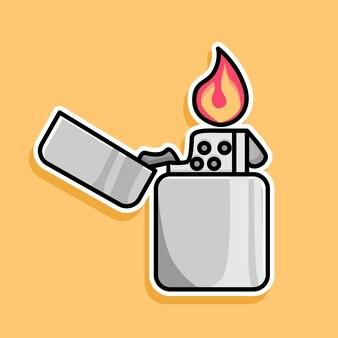 Desenho de desenho animado de isqueiro a gás