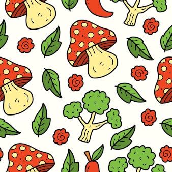 Desenho de desenho de ilustração de desenho de vegetal desenhado à mão