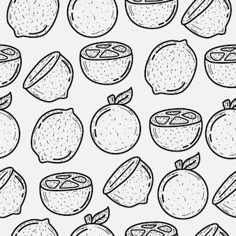 Desenho de desenho de limão doodle